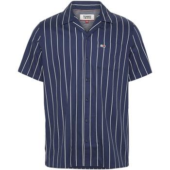 tekstylia Męskie Koszule z krótkim rękawem Tommy Jeans DM0DM07900 Niebieski