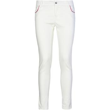 tekstylia Damskie Chinos Café Noir JP235 Biały