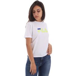 tekstylia Damskie T-shirty z krótkim rękawem Fila 687614 Biały