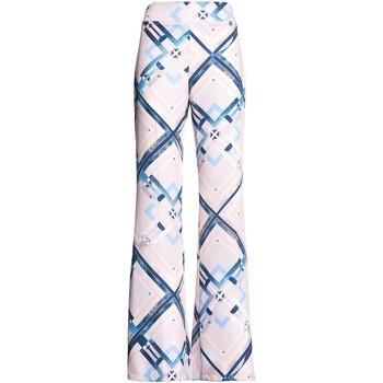 tekstylia Damskie Spodnie z lejącej tkaniny / Alladynki Fracomina FR20SM042 Różowy
