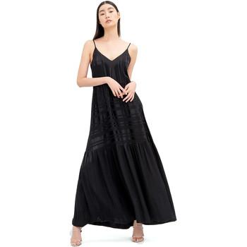 tekstylia Damskie Sukienki długie Fracomina FR20SM546 Czarny