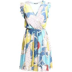 tekstylia Damskie Sukienki krótkie Fracomina FR20SM562 Niebieski