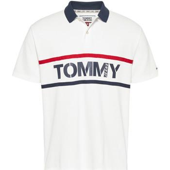 tekstylia Męskie Koszulki polo z krótkim rękawem Tommy Jeans DM0DM07779 Biały