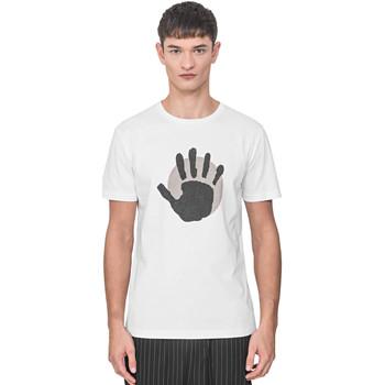 tekstylia Męskie T-shirty z krótkim rękawem Antony Morato MMKS01765 FA100144 Biały
