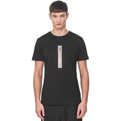 tekstylia Męskie T-shirty z krótkim rękawem Antony Morato MMKS01766 FA100144 Czarny