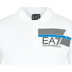 tekstylia Męskie Koszulki polo z krótkim rękawem Ea7 Emporio Armani 3HPF17 PJ02Z Biały