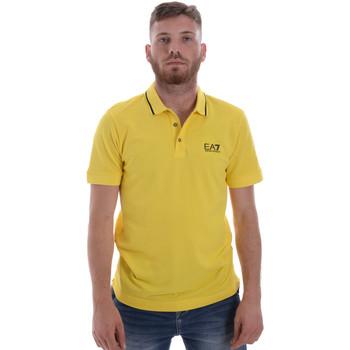 tekstylia Męskie Koszulki polo z krótkim rękawem Ea7 Emporio Armani 8NPF06 PJ04Z Żółty