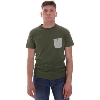 tekstylia Męskie T-shirty z krótkim rękawem Sseinse ME1588SS Zielony
