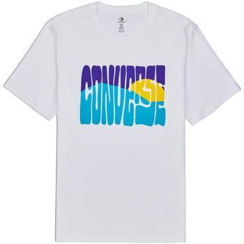 tekstylia Męskie T-shirty z krótkim rękawem Converse 10018864-A01 Biały