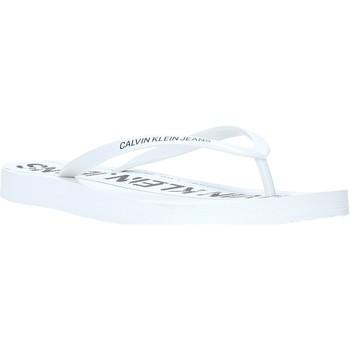 Buty Damskie Japonki Calvin Klein Jeans B4R0904 Biały