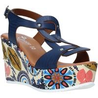 Buty Damskie Sandały Grace Shoes 09 Niebieski
