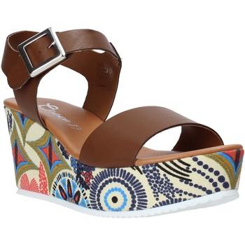Buty Damskie Sandały Grace Shoes 07 Brązowy