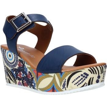 Buty Damskie Sandały Grace Shoes 07 Niebieski