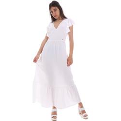 tekstylia Damskie Sukienki długie Gaudi 011BD15039 Biały