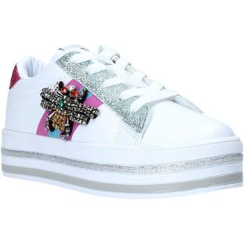 Buty Dziewczynka Trampki niskie Sweet Years S20-SSK416 Biały