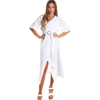 tekstylia Damskie Sukienki długie Fracomina FR20SM561 Biały