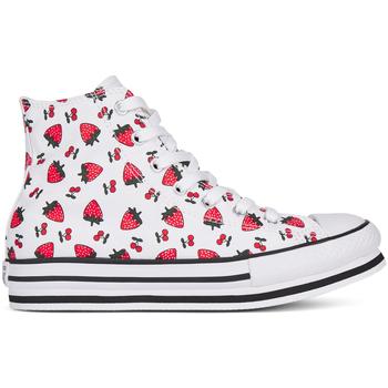 Buty Dziewczynka Trampki wysokie Converse 668016C Biały