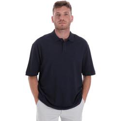 tekstylia Męskie Koszulki polo z krótkim rękawem Les Copains 9U9016 Niebieski