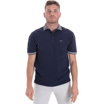 tekstylia Męskie Koszulki polo z krótkim rękawem Les Copains 9U9024 Niebieski