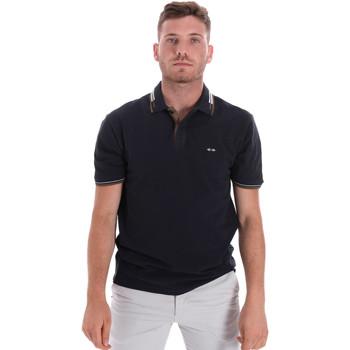 tekstylia Męskie Koszulki polo z krótkim rękawem Les Copains 9U9021 Niebieski