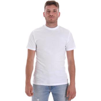 tekstylia Męskie T-shirty z krótkim rękawem Les Copains 9U9013 Biały