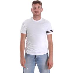 tekstylia Męskie T-shirty z krótkim rękawem Les Copains 9U9014 Biały