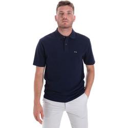 tekstylia Męskie Koszulki polo z krótkim rękawem Les Copains 9U9023 Niebieski