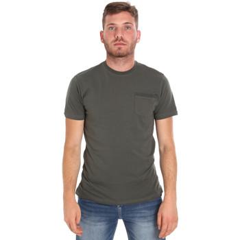 tekstylia Męskie T-shirty z krótkim rękawem Les Copains 9U9010 Zielony