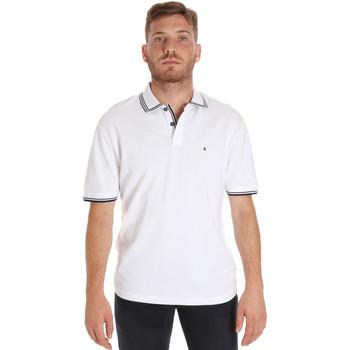 tekstylia Męskie Koszulki polo z krótkim rękawem Les Copains 9U9020 Biały