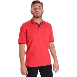tekstylia Męskie Koszulki polo z krótkim rękawem Les Copains 9U9020 Czerwony