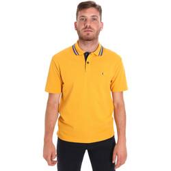 tekstylia Męskie Koszulki polo z krótkim rękawem Les Copains 9U9021 Żółty