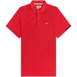tekstylia Męskie Koszulki polo z krótkim rękawem Tommy Jeans DM0DM07802 Czerwony