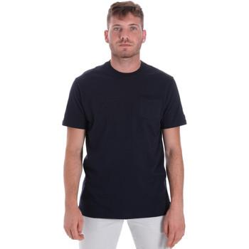 tekstylia Męskie T-shirty z krótkim rękawem Les Copains 9U9010 Niebieski