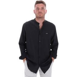 tekstylia Męskie Koszule z długim rękawem Les Copains 9U2722 Niebieski