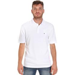 tekstylia Męskie Koszulki polo z krótkim rękawem Les Copains 9U9015 Biały
