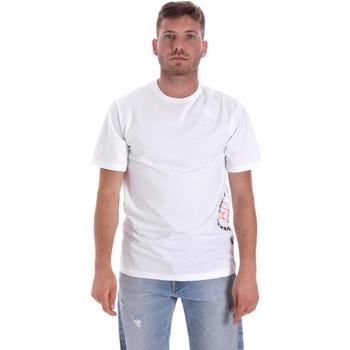 tekstylia Męskie T-shirty z krótkim rękawem Converse 10018872-A02 Biały