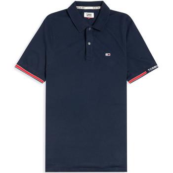 tekstylia Męskie Koszulki polo z krótkim rękawem Tommy Jeans DM0DM07803 Niebieski
