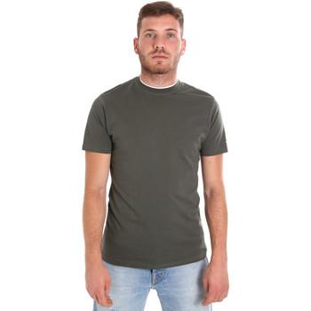 tekstylia Męskie T-shirty z krótkim rękawem Les Copains 9U9013 Zielony