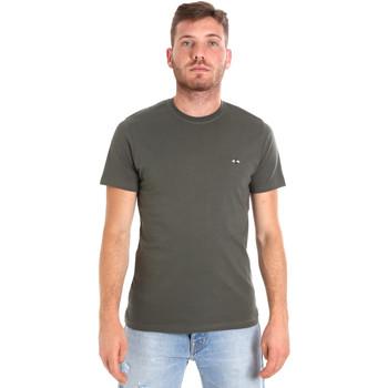 tekstylia Męskie T-shirty z krótkim rękawem Les Copains 9U9011 Zielony