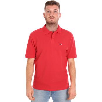 tekstylia Męskie Koszulki polo z krótkim rękawem Les Copains 9U9015 Czerwony