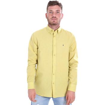 tekstylia Męskie Koszule z długim rękawem Les Copains 9U2371 Żółty