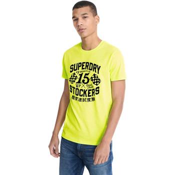 tekstylia Męskie T-shirty z krótkim rękawem Superdry M1010259A Żółty