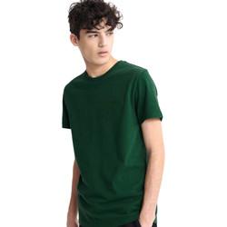 tekstylia Męskie T-shirty z krótkim rękawem Superdry M1010067A Zielony