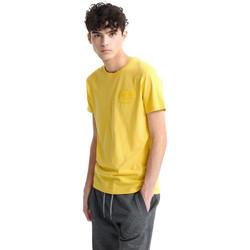 tekstylia Męskie T-shirty z krótkim rękawem Superdry M1010067A Żółty
