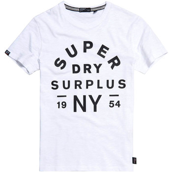 tekstylia Męskie T-shirty z krótkim rękawem Superdry M1010113A Biały