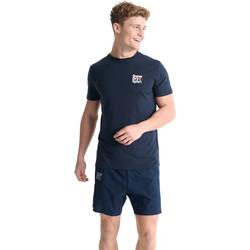 tekstylia Męskie T-shirty z krótkim rękawem Superdry MS300015A Niebieski