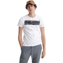 tekstylia Męskie T-shirty z krótkim rękawem Superdry M1000069A Biały