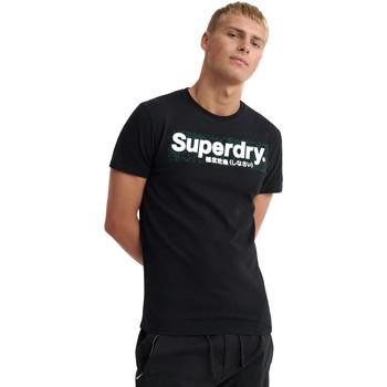 tekstylia Męskie T-shirty z krótkim rękawem Superdry M1000069A Czarny