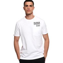 tekstylia Męskie T-shirty z krótkim rękawem Superdry M1000040A Biały