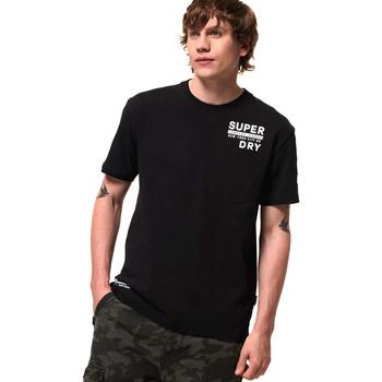 tekstylia Męskie T-shirty z krótkim rękawem Superdry M1000040A Czarny